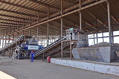 Línea de producción de eliminación de trituración de paja de maíz en el noreste de China
