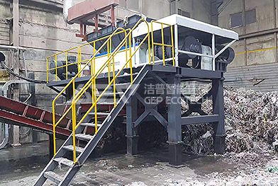 Proyecto de trituradora de residuos industriales a gran escala