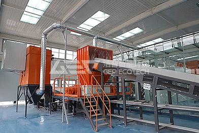 Proyecto de eliminación de trituración de residuos textiles del centro de clasificación de residuos