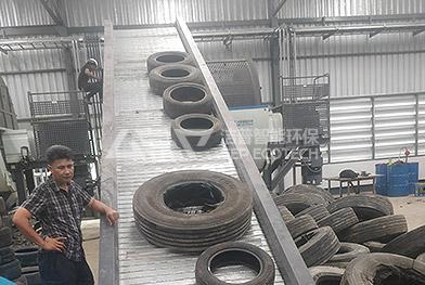 Línea de trituración, pirólisis, reciclaje y procesamiento de llantas de desecho