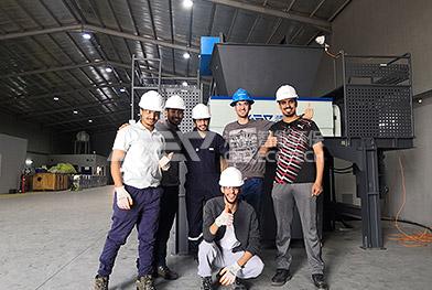 Proyecto de reciclaje de trituradoras de residuos metálicos