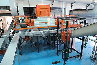 Proyecto de línea de procesamiento de trituración de residuos de cocina