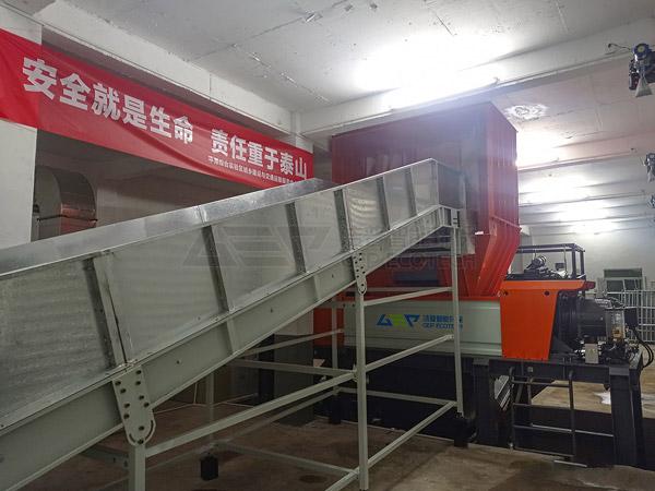 La trituradora inteligente de desechos voluminosos y el sistema de eliminación en Fujian, China, oficialmente puesto en producción