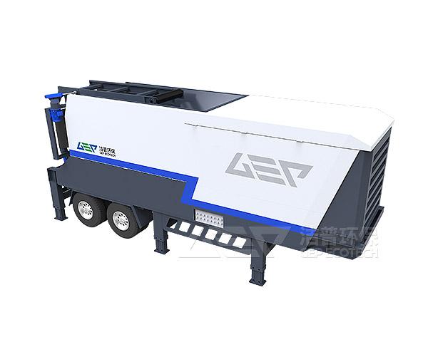 Nueva estación móvil mejorada de trituración de residuos sólidos para realizar el reciclaje de basura doméstica
