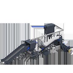 Sistema de trituración y eliminación de residuos voluminoso