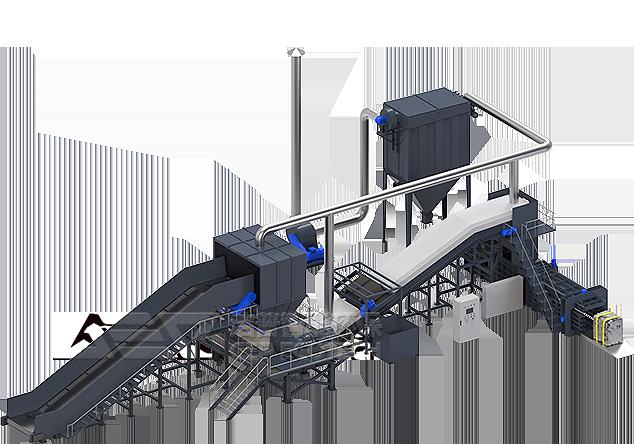 Sistema de trituración y eliminación de residuos voluminosos